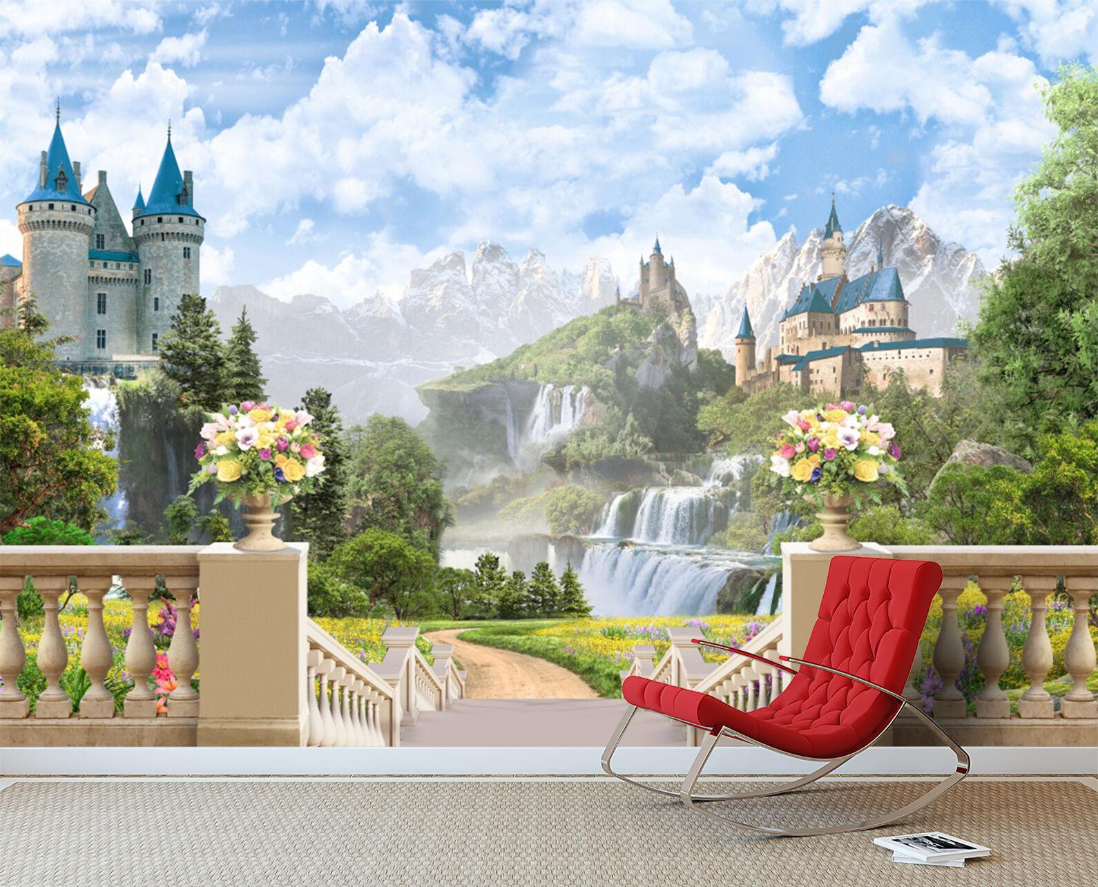3D Castle, beauty 3879 Wall Paper Print Wall Decal Deco Indoor Wall Murals