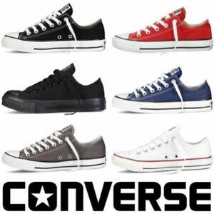 ALL-STAR-Chuck-Taylor-Uomo-Donna-Unisex-Maglia-Scarpe-Di-Tela-Basse-Shoes