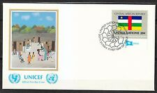 United Nations NY 1984 FDC cover Flag of Central African Republic art