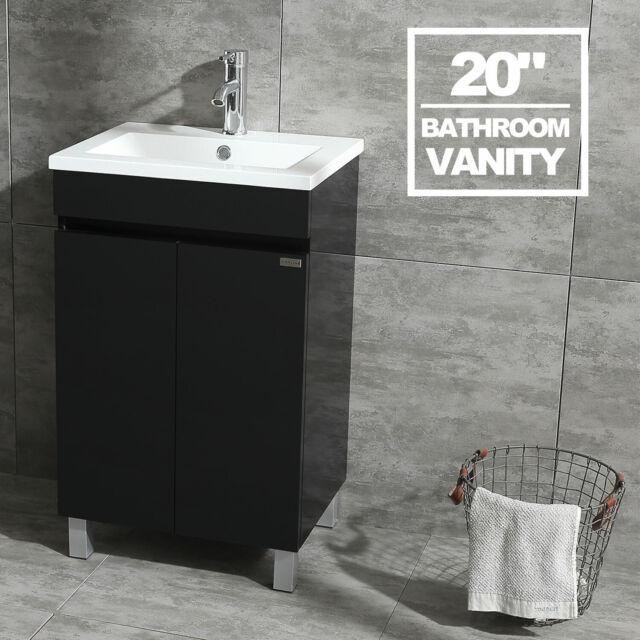 20 Bathroom Vanity Cabinet Wood Set W