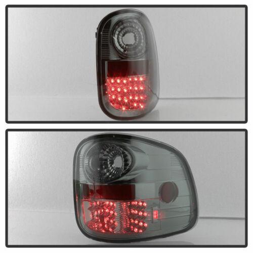 Ford 97-03 F150 Flareside Smoke LED Euro Style Rear Tail Lights Lamp Set