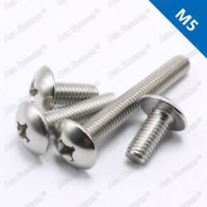 M3M4M5M6 Black Stainless Steel Cross Phillips Truss Large Round Head Screw Bolt