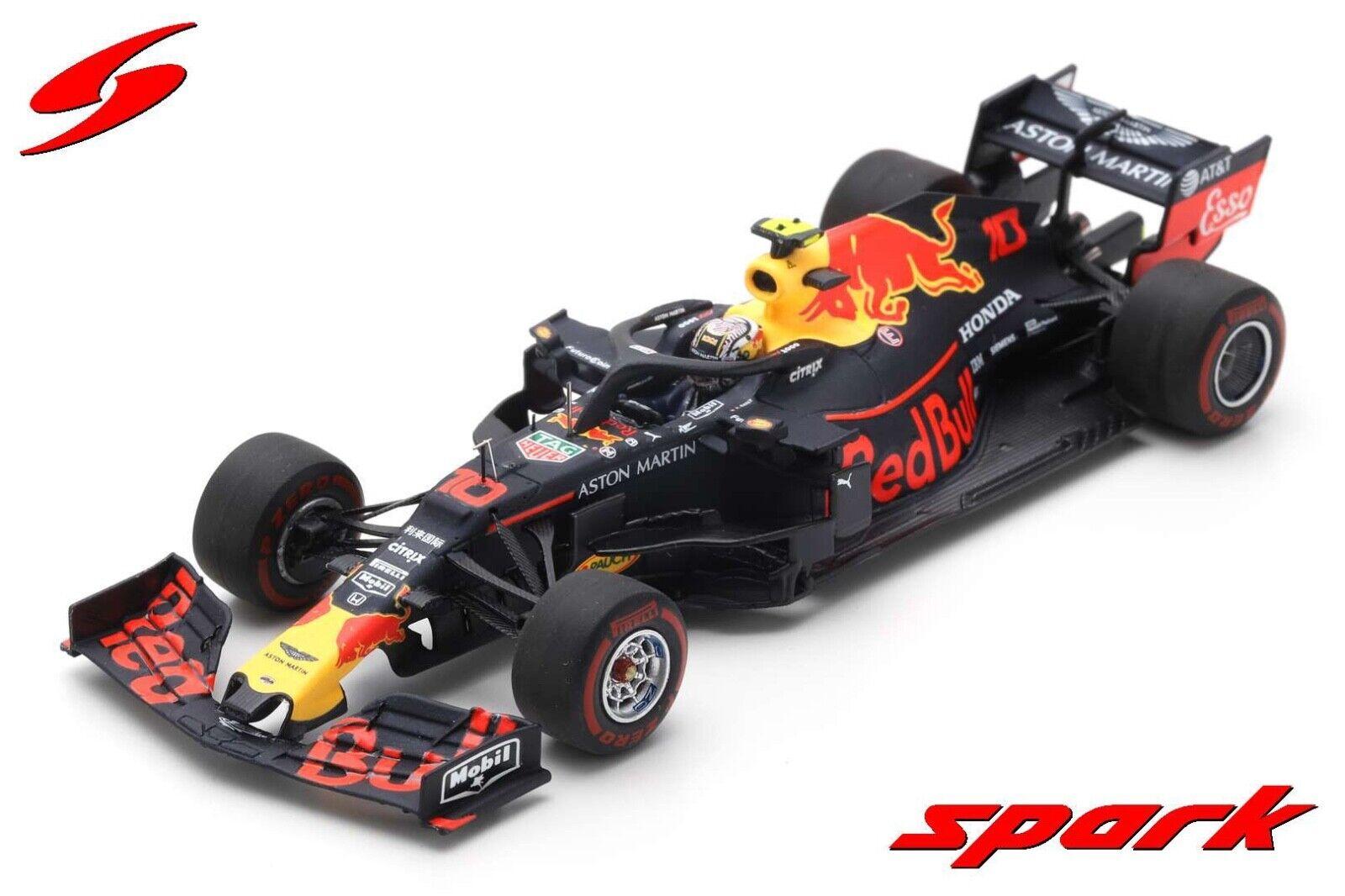 SPARK S6077 1 43 2019 rougeBull Honda  Racing RB15 Pierre GASLY modèle F1  design simple et généreux