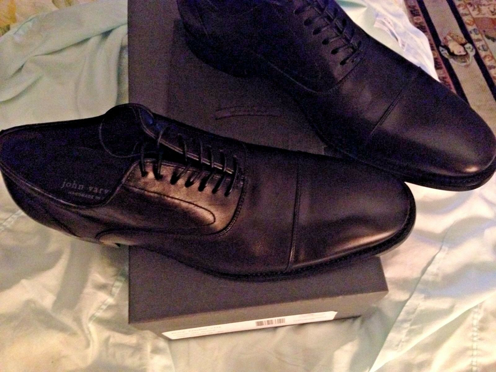 628.00 JOHN VARVATOS Leather Oxfords hand made in in in  size 11 48c268