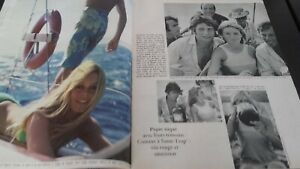 Rivista Brigitte Bardot Parigi Match N° 904 Agosto 1966 Be