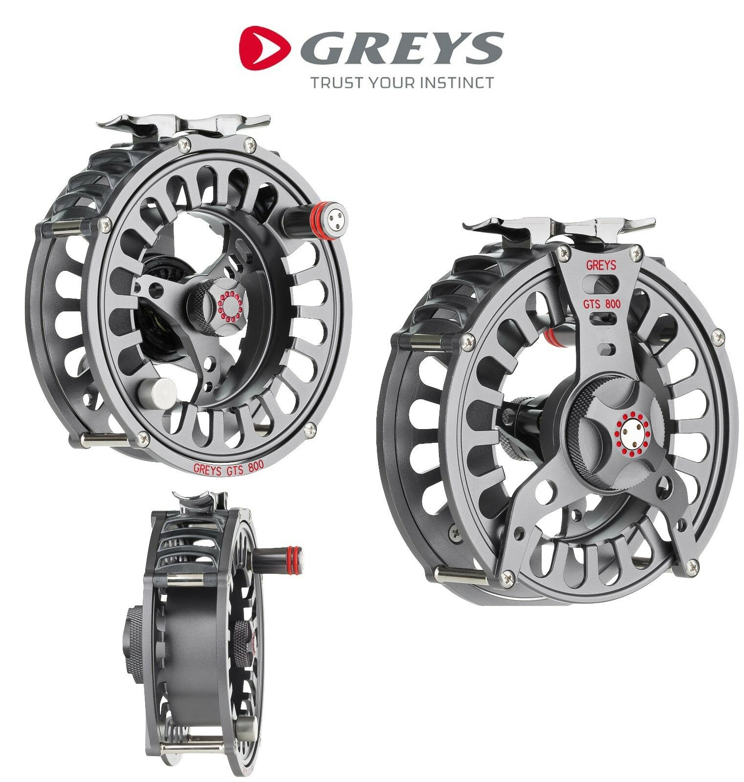 Graus GTS 800 Fliegenspule Forelle Lachs Hecht Fliegenfischen Aluminium Rolle