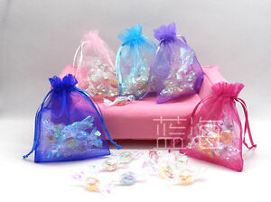 Colorful-Organza-Wedding-Favour-Candy-Chrestmas-Gift-Bags-Jewelry-Pouches-9X12cm