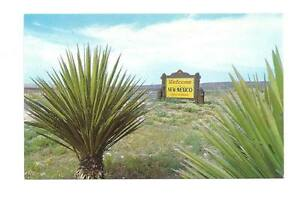 NM-Welcome-Sign-to-Land-of-Enchantment-New-Mexico-Vtg
