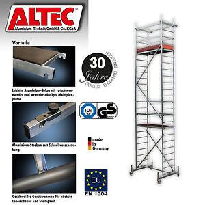 ALTEC-Alu-Geruest-Rollfix-Hoehe-7m-neu-Aluminium-Rollgeruest-Fahrgeruest