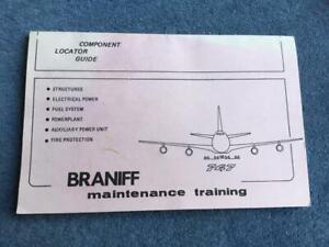 Braniff Airways Boeing 747 Component Locator Guide Maintenance Training Manual