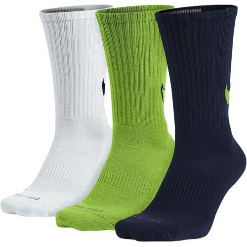 multi-color // $20.00 SX4950-913 Nike Men Dri-Fit Cotton Swoosh Hbr Crew Socks