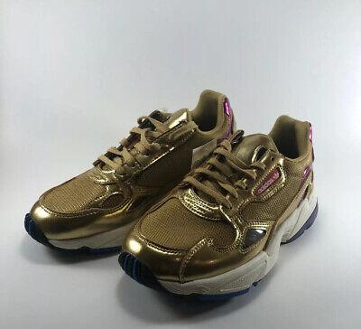 Adidas Falcon Gold Metallic Sneakers