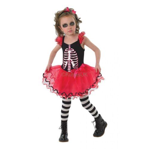 Skull Tutu Costume Girls Skeleton Halloween Day Of The Dead Fancy Dress 9-10 Yrs