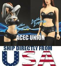 1/6 Sexy Female Leather Lingerie B For Phicen Hot Toys Kumik - U.S.A. SELLER
