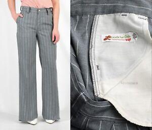 Vintage 70s high waist pinstripe tapered jeans