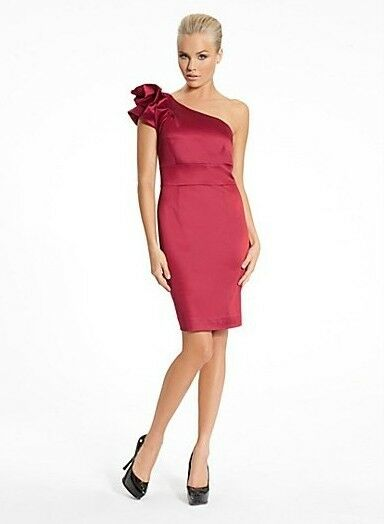 NEW  MARCIANO GUESS KENNEDY COUTURE DRESS ONE SHOULDER TOP XS 2, S 4, M 8