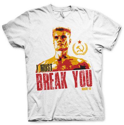 T Shirt Rocky IV Ivan Petit dragon « Je dois Break Vous pull homme Hybris | eBay
