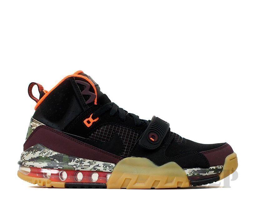 New Nike Men's Air Max Bo Jax Premium Price reduction  Black/Deep Burgundy/Crimson The latest discount shoes for men and women