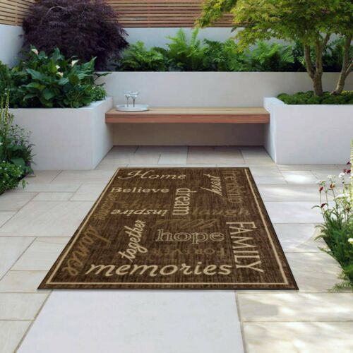 Indoor Outdoor Rugs Flatweave Contemporary Patio,Pool,Camp and Picnic Carpets