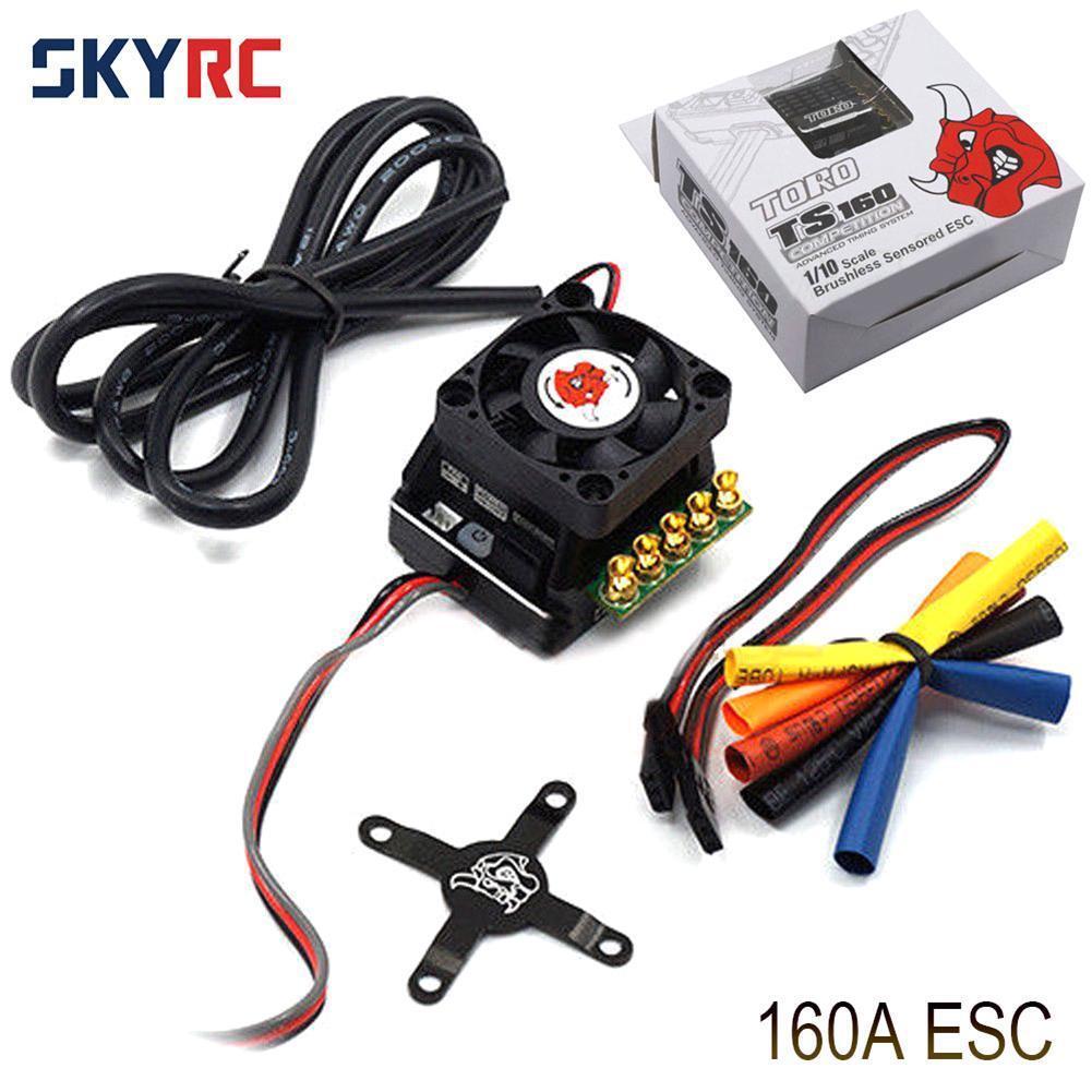 SKYRC Toro TS160A 160A 2-3S Aluminio sin escobillas Sensorojo ESC para RC Coche 1 10