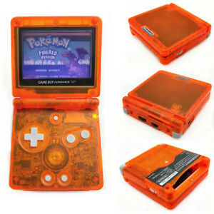 Game-Boy-Advance-SP-Console-AGS-001-Front-light-LCD-GBA-SP-System-Clear-Orange