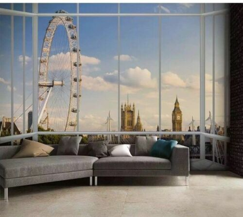 Photographic Wall Mural Photo Poster Wallpaper  Maps Buildings Cities