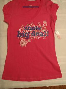 Urbanology-Small-Medium-or-Large-Choice-Snow-Big-Deal-Pink-V-Neck-Shirt-NWT