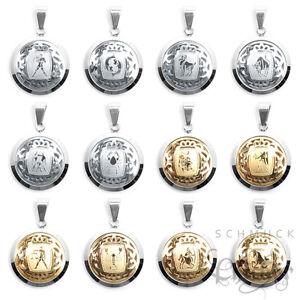 Edelstahl-Anhaenger-Sternzeichen-Tierkreiszeichen-gold-oder-silber-60cm-Kette