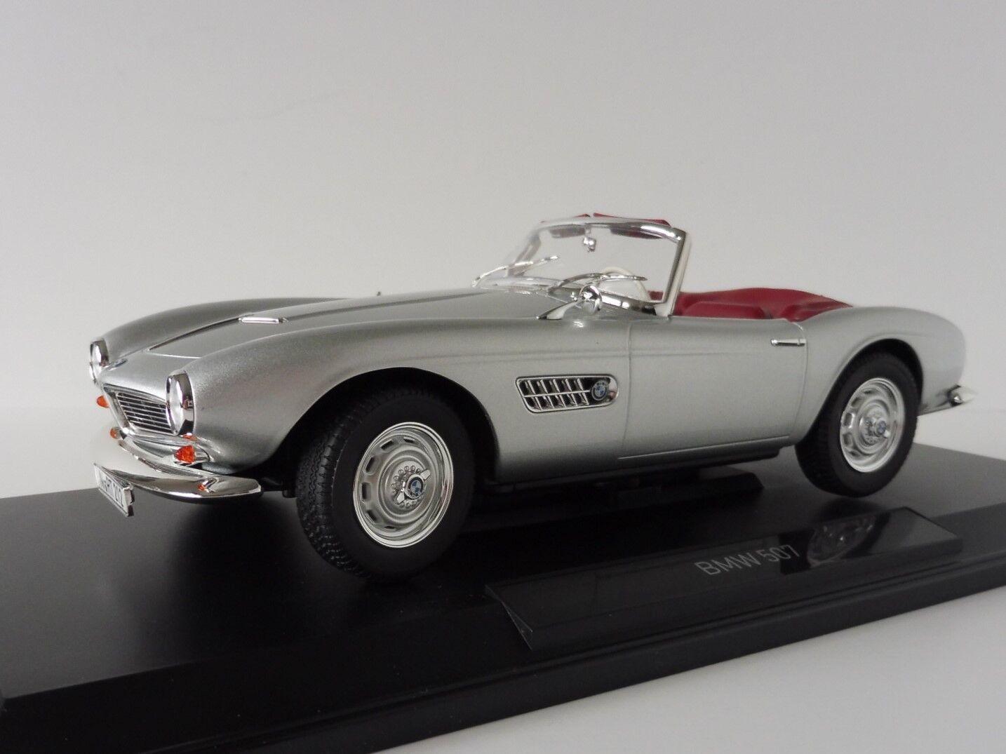 BMW 507 Cabriolet 1956 silver 1 18 Norev 183230 Congreenible