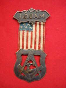 JR Order United American Mechanics OUAM Freemason Council Badge Medal