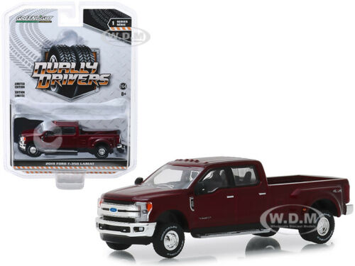 2019 FORD F-350 LARIAT DUALLY PICKUP TRUCK RUBY RED 1//64 CAR GREENLIGHT 46010 D