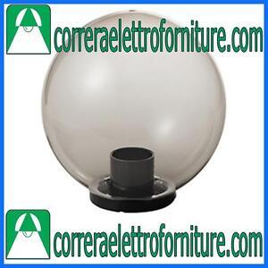 MARECO-1080501F-Lampione-globo-illuminazione-giardino-esterno-SFERA-400-mm-fume