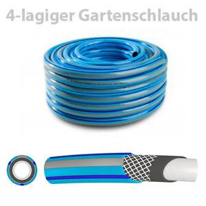 """3//4/"""" Schlauch Gartenschlauch Wasserschlauch schwarz 4 Lagig 15m 20m 25m 30m 50m"""