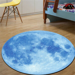 3D Blue Print Planet Earth Round Carpet Rugs Creative Anti-Skid Carpet  Fashion