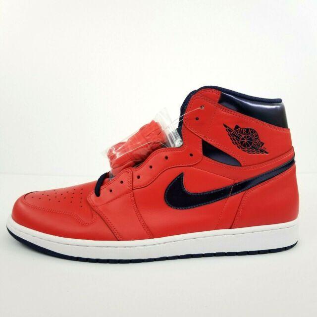 Nike Air Jordan 1 Retro High OG David Letterman Sz 4 Red Blue White