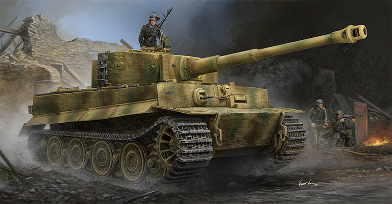 Trumpeter 1 35 Pz.Kpfw.VI Pz.Kpfw.VI Pz.Kpfw.VI Ausf.E Sd.Kfz.181 Tiger I (Late Production with Zimmer 0db777