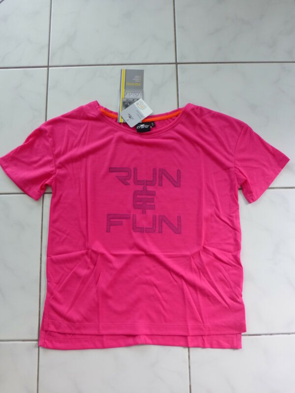Crane Damen Sport T-shirt Shirt Kurzarm Pink Mit Motiv Run Fun Gr.xs / 34 Neu Freigabepreis