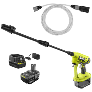18V 320PSI 0.8GPM Electric Pressure Washer Cordless Adjustable Nozzle Cold Water
