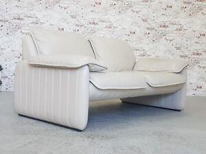De-Sede-2er-Leder-Sofa-Couch-Designklassiker-Zweisitzer-Two-Seater-Vintage