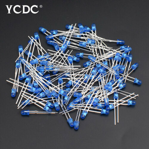 100PCS 3MM//5MM ASSORTED COLOR 2-PIN DIFFUSED LED LIGHT EMITTING DIODES PACK BC3