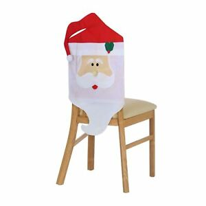 Incredible Details About Santa Claus Christmas Dinner Table Chair Back Cover Decorations Xmas Decor Uk Squirreltailoven Fun Painted Chair Ideas Images Squirreltailovenorg