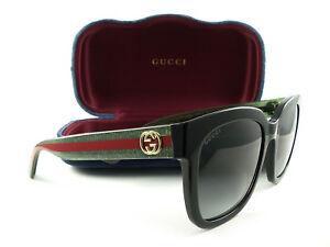 6e658ddadc Image is loading Gucci-Sunglasses-GG0034S-Black-Green-Gray-002-Authentic-