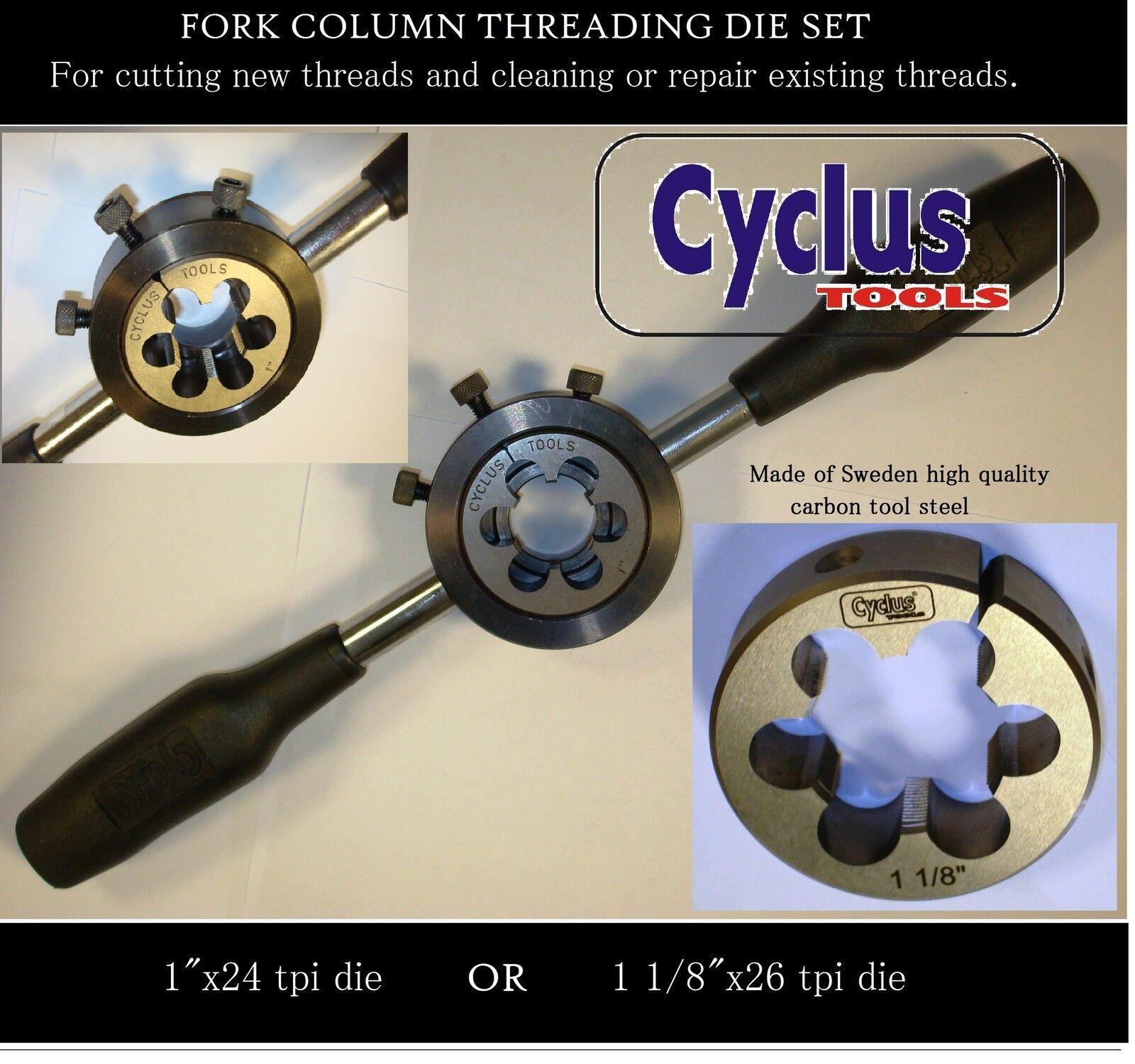 Bicycle steer tube threading tool 1  x 24  for vintage bike forks