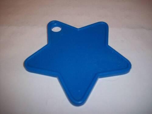 9 BLUE STAR PLASTIC FOIL BALLOON WEIGHT HELIUM