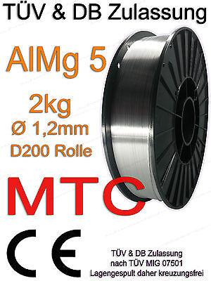 AlMg5 3.3556 Alu Aluminium Schweißdraht 1,2mm 2 kg MARKE MTC Welding Wire Draht