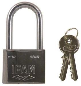 ifam stainless steel long shackle padlock can be keyed alike ebay