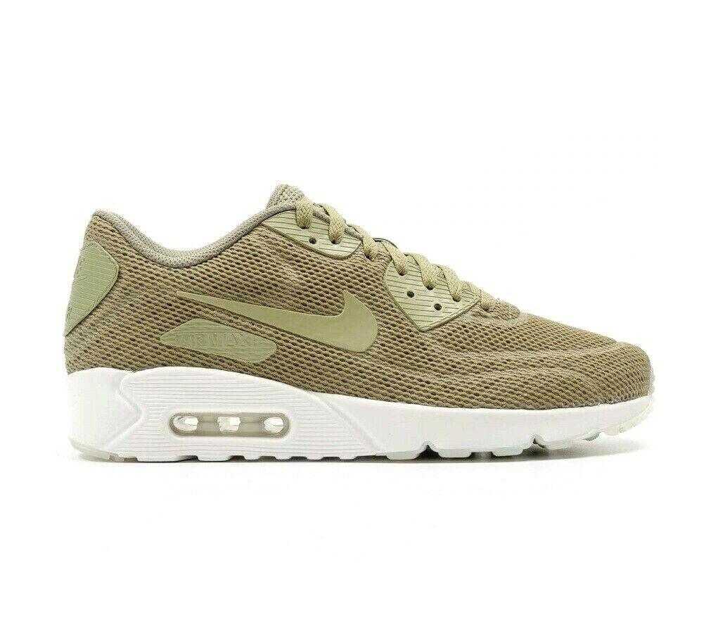 Nike Air Max 90 Ultra 2.0 Trooper Green White 898010-200 Mens Size 10.5
