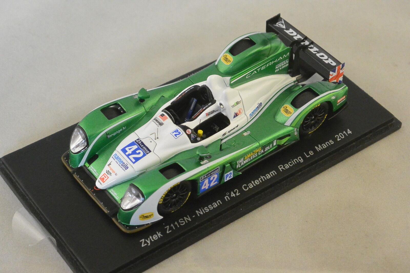 Spark S4221 - ZYTEK Z11SN Nissan Caterham Racing n°42 25ème Le Mans 2014   1 43