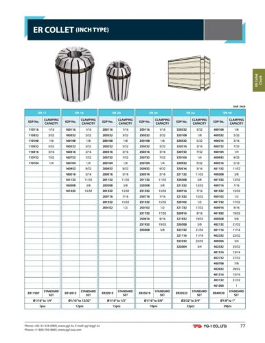 """2pcs ER16 Collet 1//8/"""" by YG1 High Quality Hardened /& Ground Spring Steel"""
