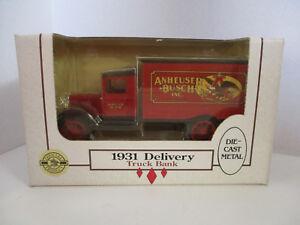 Bank-ERTL-1-34-Anheuser-Busch-Delivery-Truck-1931-Die-Cast-Metal-Coin-Bank-USA